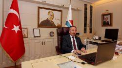 Rektör Karabulut,Telekonferans Yöntemiyle Toplantı Yaptı