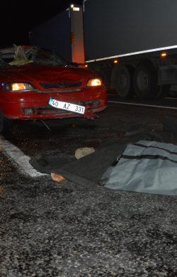 Patnos'ta trafik kazası 1 ölü 1 yaralı