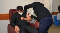 Patnos'ta CoronaVac aşısı'nın uygulamasına başlandı